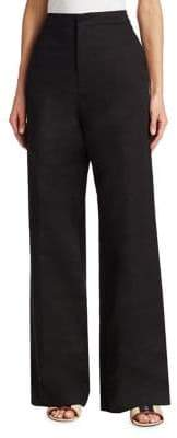 Marni Drill High-Waist Flare Pants