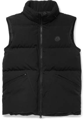 Moncler Lognan Quilted Shell Hooded Down Gilet