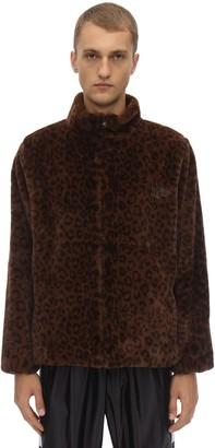 F&F Ufu Used Future Ff Leopard Print Faux Fur Jacket