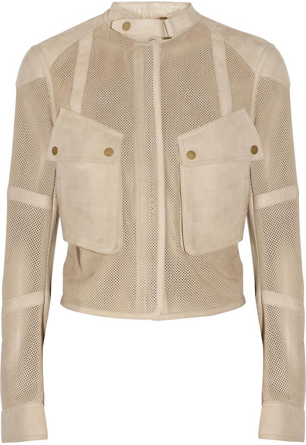 Belstaff Speedmaster perforated suede jacket