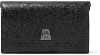 Akris Anouk Envelope Textured-leather Clutch - Black