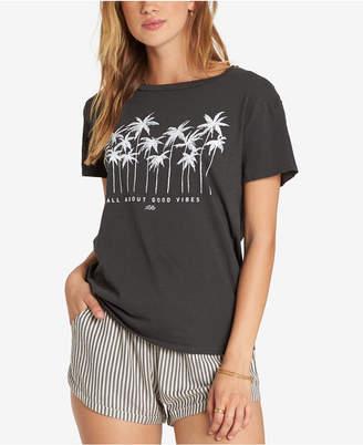 Billabong Juniors' Cotton Good Vibes Graphic-Print T-Shirt