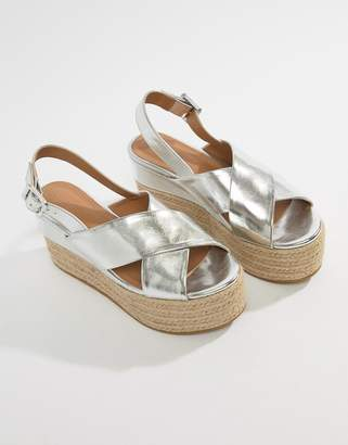 Asos Design Trio Espadrille Wedge Sandals