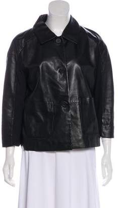 Les Copains Casual Leather Jacket