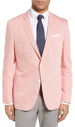 Men's Boss Hamit-T Trim Fit Linen & Cotton Blazer $645 thestylecure.com