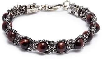 Emanuele Bicocchi Beaded braided chain bracelet