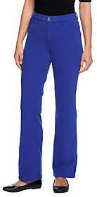 Denim & Co. Petite Comfy Knit Denim Boot-CutJeans