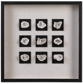 Uttermost Geode Linen-Accented Shadow Box Wall Art