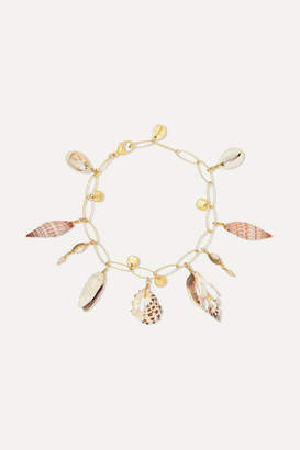 Chan Luu Gold-plated, Shell And Pearl Bracelet - one size