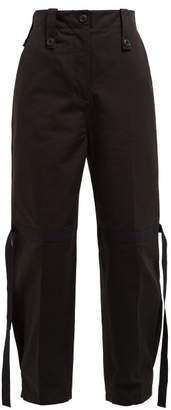 Givenchy Flamme Strap Cotton Cargo Trousers - Womens - Black
