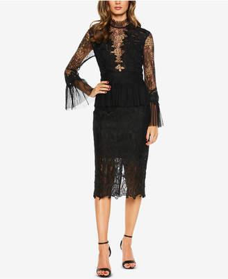 Bardot Lace Bell-Sleeve Sheath Dress
