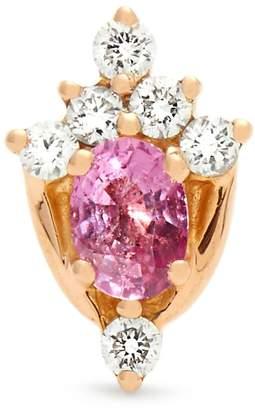 Rosegold MARIA TASH Diamond, sapphire & rose-gold single earring