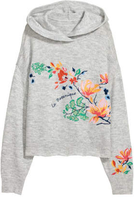 H&M Knit Hooded Sweater - Gray
