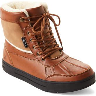 Nautica Brown Lockview Fleece-Lined Boots