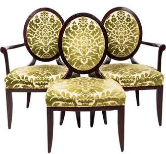 Baker Set of 3 Oval X-Back Dining Chairs