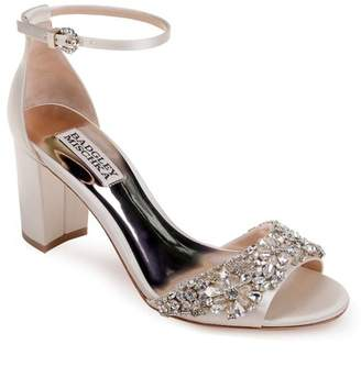 Badgley Mischka Hines Embellished Block Heel Sandal (Women)