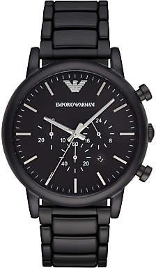 Emporio Armani AR1895 Men's Chronograph Date Bracelet Strap, Black