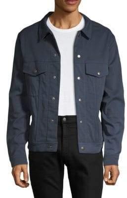 Front Snap Denim Jacket