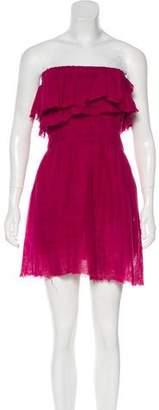 Isabel Marant Strapless Linen Dress