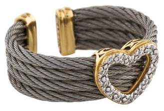 Charriol Diamond Heart Cable Ring
