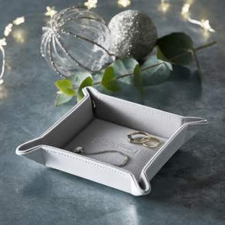 The White Company Leather Bedside Trinket Tray