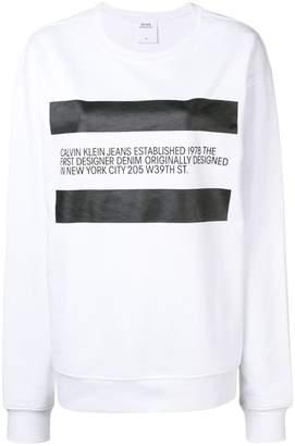 Calvin Klein Jeans Est. 1978 designer bio print sweatshirt