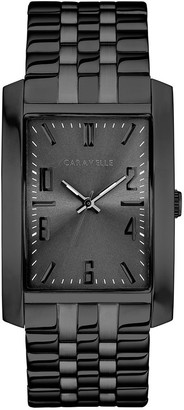 Caravelle Men's Stainless Rectangle Bracelet Watch