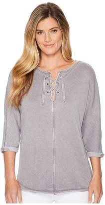 Jag Jeans Debbie Lace-Up Shirt Women's Clothing