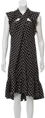 David Szeto Printed Silk Dress