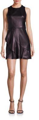 Parker Sleeveless Crewneck Leather Dress $595 thestylecure.com