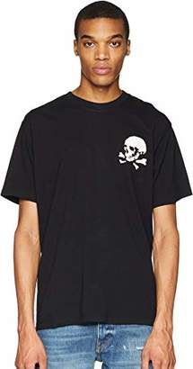 The Kooples Men's Men's Cotton T-Shirt with Front and Back Graphic