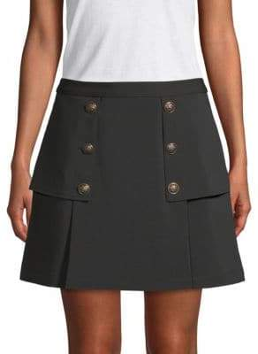 Laundry by Shelli Segal Crepe Novelty Mini Skirt