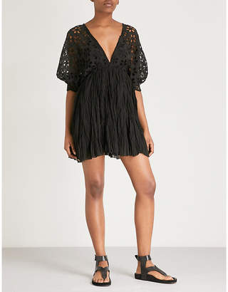 Free People Bella Note cotton and woven mini dress