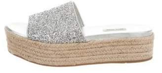 Miu Miu Glitter Espadrille Sandals