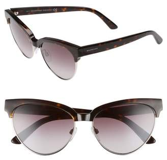 Balenciaga 57mm Gradient Cat Eye Sunglasses