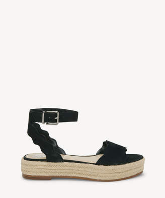 Vince Camuto Women's Kamperla Espadrille Sandals Black Size 5 Leather From Sole Society