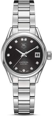 Tag Heuer Carrera Calibre 9 Watch with Diamonds, 28mm