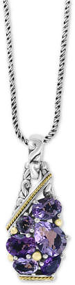 "Effy Amethyst 18"" Pendant Necklace (5 ct. t.w.) in Sterling Silver & 18k Gold"