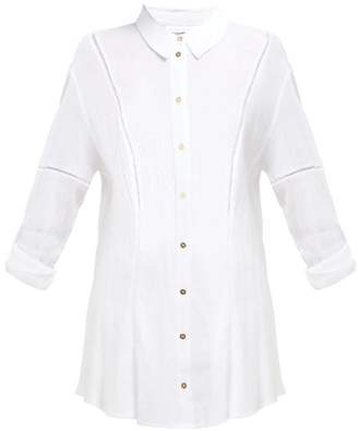 Heidi Klein San Marino Lace Trimmed Cotton Shirt - Womens - White