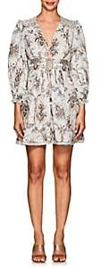 Zimmermann Women's Bayou Floral Linen Corset Dress
