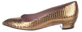 Miu Miu Embossed Leather Flats