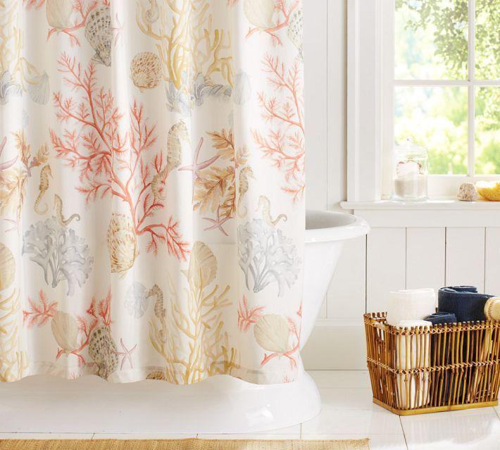 Pottery Barn Atlantic Shower Curtain