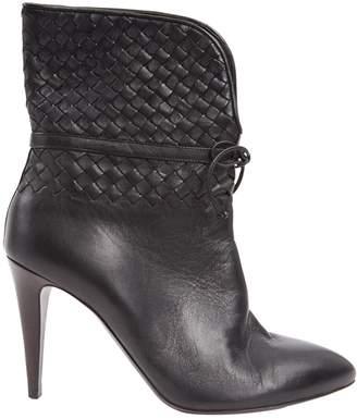 Bottega Veneta Black Leather Ankle boots