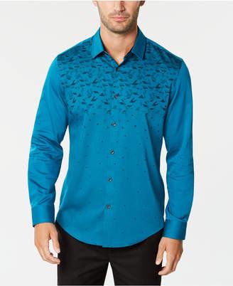 Alfani Men Ombre Geo-Print Shirt