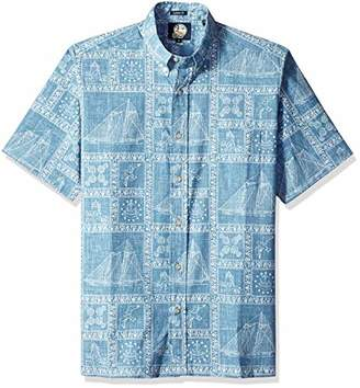 Reyn Spooner Men's Newport Sailor Spooner Kloth Classic Fit Hawaiian Shirt