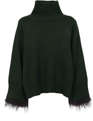 Fabiana Filippi Green Wool Sweater
