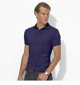 Polo Ralph Lauren Mens Custom Slim Fit Mesh Polo