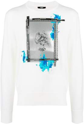 Versus printed crew neck sweater