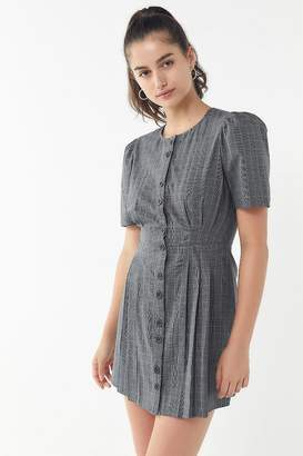 Urban Outfitters Carrie Menswear Puff Sleeve Dress