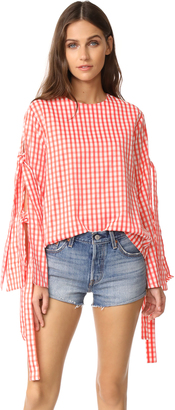 Style Mafia Gingham Blouse $129 thestylecure.com